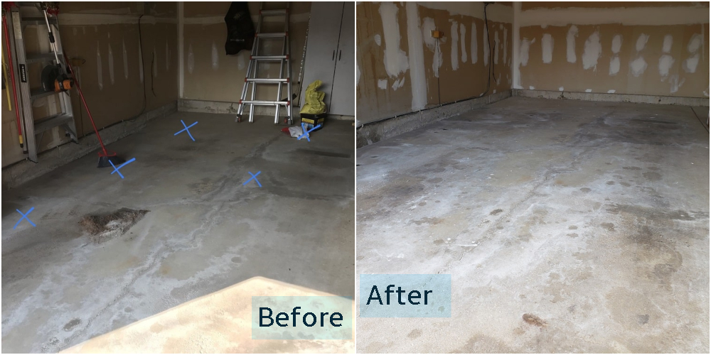 Garage Floor Repair Algonquin IL Before and After Teacher Discount