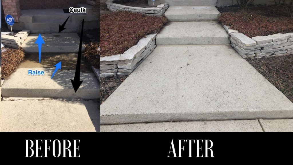 before and after stair restoration