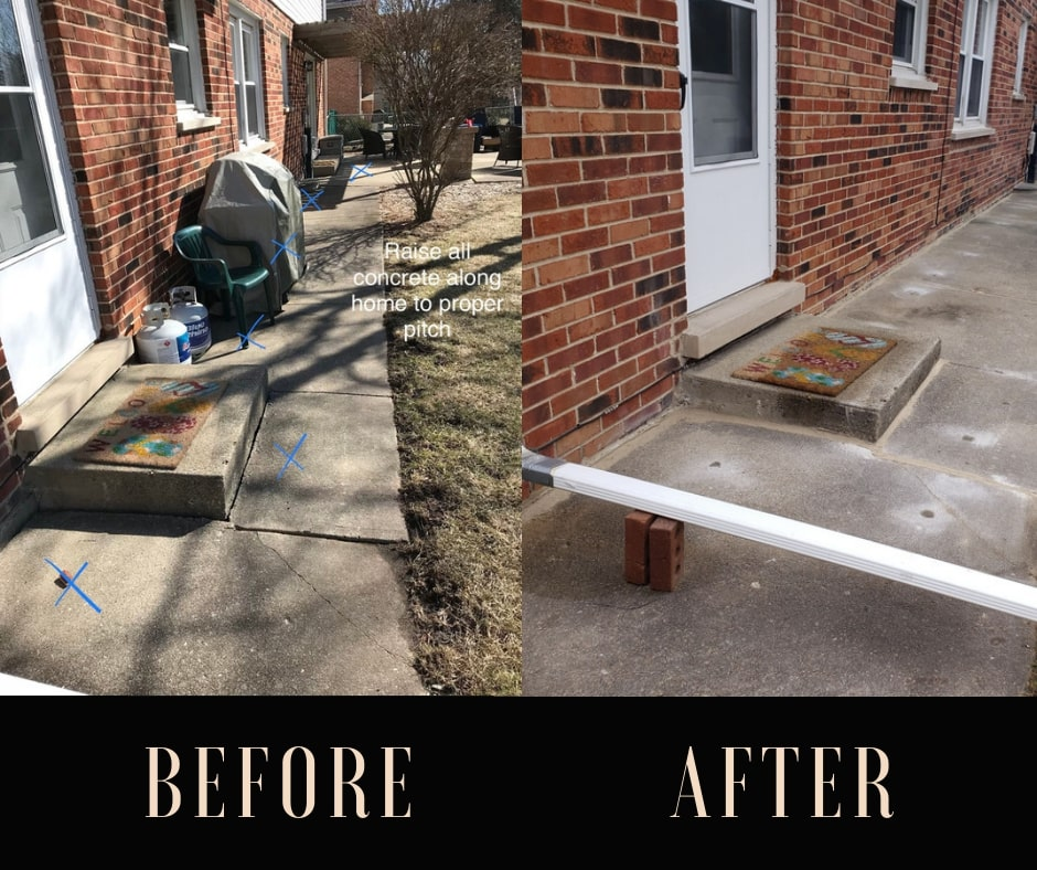patio restoration before and after