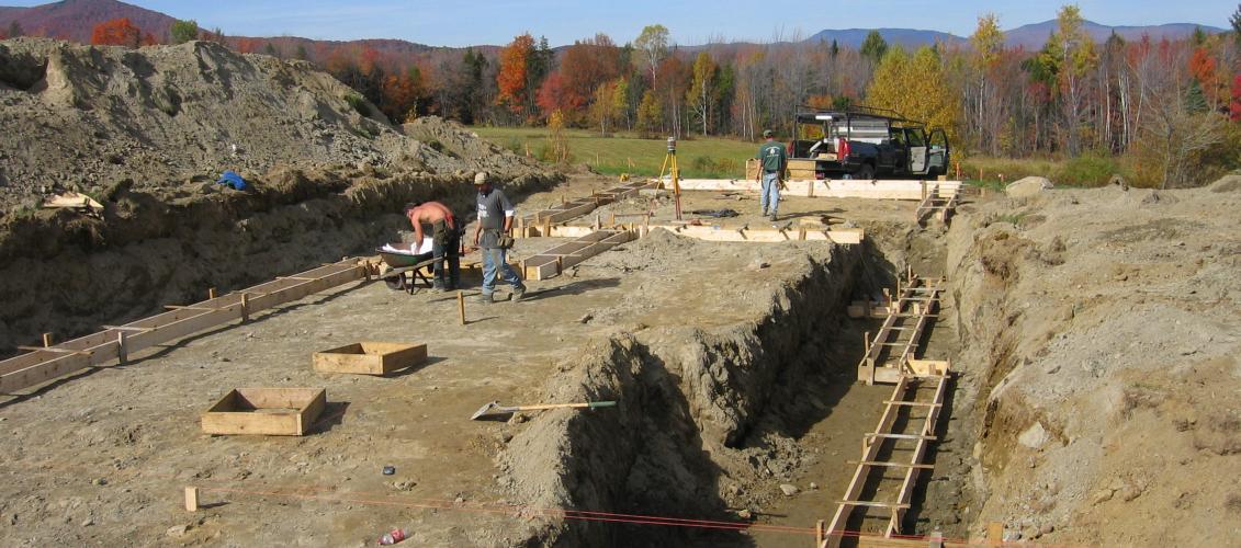 foundation overdig area